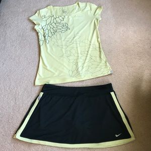 NIKE tennis top and skort outfit  - Size Large